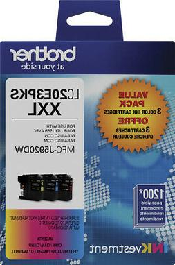 Brother - LC20E3PKS XXL 3-Pack Super High Yield Ink Cartridg