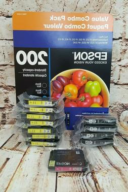 Lot 12 Genuine Epson 200 Ink Cartridges,Expression Home, Wor