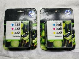 Lot  of HP 564 Three Color Photosmart Combo SEALED packs