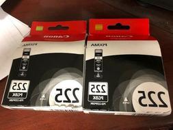 LOT OF 2 Canon PGI-225PGBK Black SEALED BOXES   225 PGBK