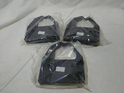 Lot of 3 Black Color Ink Ribbons 21599