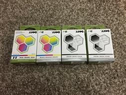 Lot of 4 Dell Series 9XL / 11 Color & Black Ink Cartridges -