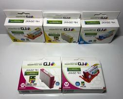 lot of 5 recycled ink cartridge hp