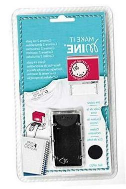Mine Stamp Ink Cartridge, Black  Black Ink Cartridges 2 Pack