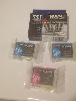 New Epson 127XL Extra High Capacity Black Ink & Color Cartri