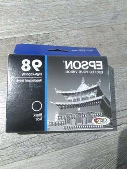 New Epson 98 T098120 High Capacity Black Ink Cartridge Clari