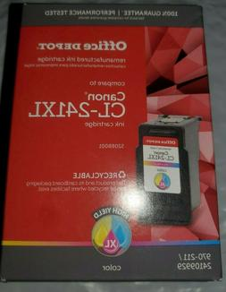 New Office Depot Canon CL-241XL Re-manufactured Tricolor Ink