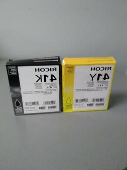 New Ricoh  GC 41Y, GC 41K Ink Cartridge for SG 7100DN SG 312