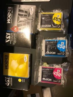 New Genuine Epson Ink 126 127 1XL Black 2Yellow 1Cyan 1Magen