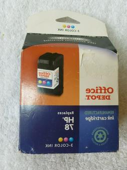 Office Depot 3 Color Ink Cartridge,Replaces HP 78,Remanufact