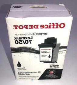 Office Depot Re-manufactured Lexmark 50/70 Black Ink Cartrid