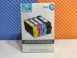 Onn Hp 564XL Black & Color Ink Cartridges Combo 4-Pack New i