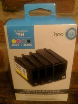 ONN Remanufactured Ink HP 950XL / 951XL Combo Pack Ink Cartr