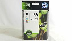 New HP #63 Combo Ink Cartridges Black & Tri Color - GENUINE