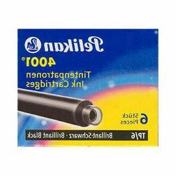 Pk/6 Pelikan 4001 Fountain Pen Ink Cartridges #TP/6, Brillia