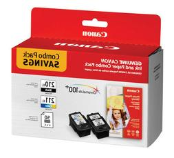 Canon PG-210 XL and CL-211 XL Ink Plus Paper Combo Pack, 50
