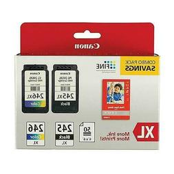 Canon PG-245XL/CL-246 Ink Tank Cartridge, Black and Tri-Colo