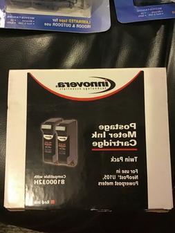 Innovera postage meter ink cartridge twin pack IVR105 compar