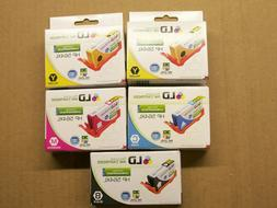 recycled ink cartridges lot of 5 hp