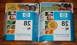 Set of 2 HP 28 Tri-Color Ink Cartridges - New in unopened pa
