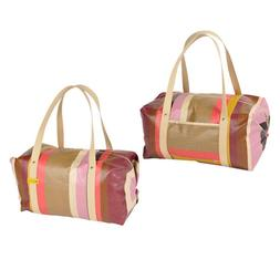 Sports, gym and travel duffel bag 100% cotton oilcloth coate