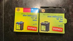 Staples for HP 56 57 Ink Cartridge Black and Tri-Color Combo