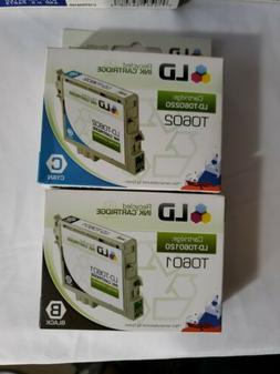 LD T060120 Recycled Ink Cartridge Lot  Black Magenta Yellow