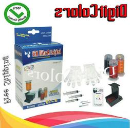 tri-color Refill ink kit bottle box for HP 75 HP 75XL C,M,Y