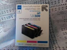 Up & Up 3pk Remanufactured HP 902XL CMY Ink Cartridge NIB