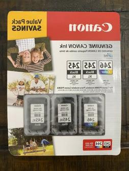 Canon Value Pack 2-245XL Black Ink Cartridges & 246 Color