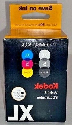 Kodak Verite 5 Printer Ink Cartridge Combo Pack XL Tri-color